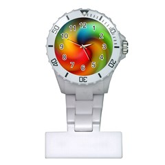 Abstract Spiral Art Creativity Plastic Nurses Watch by Nexatart