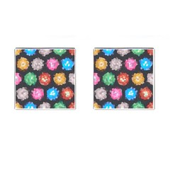 Background Colorful Abstract Cufflinks (square)
