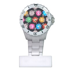 Background Colorful Abstract Plastic Nurses Watch