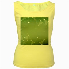 Background Abstract Line Women s Yellow Tank Top