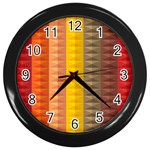 Abstract Pattern Background Wall Clocks (Black) Front