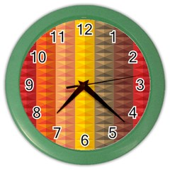 Abstract Pattern Background Color Wall Clocks