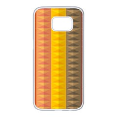 Abstract Pattern Background Samsung Galaxy S7 Edge White Seamless Case
