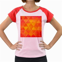 Background Colorful Abstract Women s Cap Sleeve T Shirt