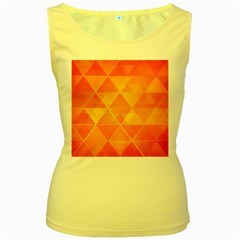 Background Colorful Abstract Women s Yellow Tank Top