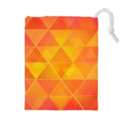Background Colorful Abstract Drawstring Pouches (extra Large) by Nexatart