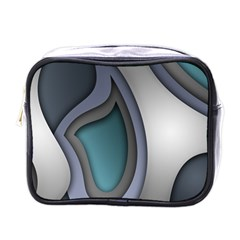 Abstract Background Abstraction Mini Toiletries Bags