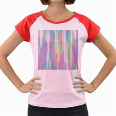 Background Abstract Pastels Women s Cap Sleeve T Shirt