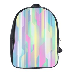 Background Abstract Pastels School Bag (xl)
