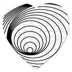 Spiral Eddy Route Symbol Bent Jigsaw Puzzle (heart)
