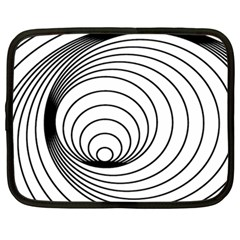 Spiral Eddy Route Symbol Bent Netbook Case (large) by Nexatart