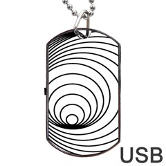 Spiral Eddy Route Symbol Bent Dog Tag Usb Flash (two Sides)