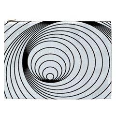 Spiral Eddy Route Symbol Bent Cosmetic Bag (xxl)  by Nexatart