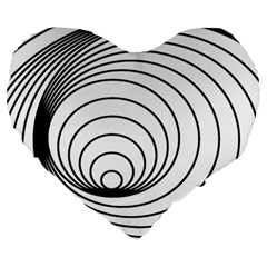 Spiral Eddy Route Symbol Bent Large 19  Premium Heart Shape Cushions