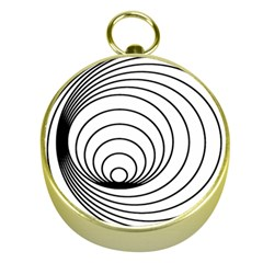 Spiral Eddy Route Symbol Bent Gold Compasses by Nexatart