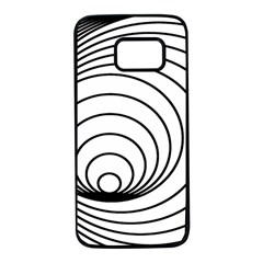 Spiral Eddy Route Symbol Bent Samsung Galaxy S7 Black Seamless Case