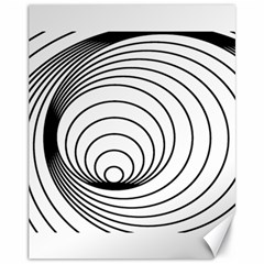 Spiral Eddy Route Symbol Bent Canvas 11  X 14