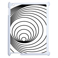 Spiral Eddy Route Symbol Bent Apple Ipad 2 Case (white) by Nexatart