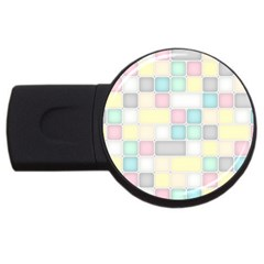 Background Abstract Pastels Square Usb Flash Drive Round (4 Gb)