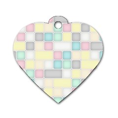 Background Abstract Pastels Square Dog Tag Heart (two Sides) by Nexatart