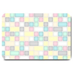 Background Abstract Pastels Square Large Doormat