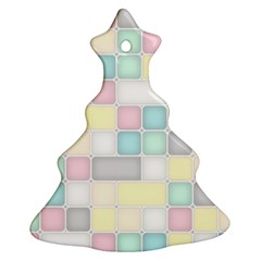 Background Abstract Pastels Square Ornament (christmas Tree)