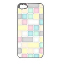 Background Abstract Pastels Square Apple Iphone 5 Case (silver)