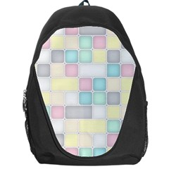 Background Abstract Pastels Square Backpack Bag