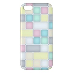 Background Abstract Pastels Square Iphone 5s/ Se Premium Hardshell Case by Nexatart