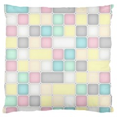Background Abstract Pastels Square Large Flano Cushion Case (one Side)