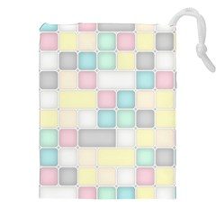 Background Abstract Pastels Square Drawstring Pouches (xxl) by Nexatart