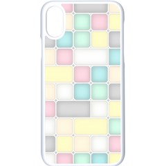 Background Abstract Pastels Square Apple Iphone X Seamless Case (white)