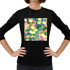 List Post It Note Memory Women s Long Sleeve Dark T Shirts
