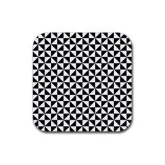 Triangle Pattern Simple Triangular Rubber Coaster (square)  by Nexatart