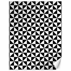 Triangle Pattern Simple Triangular Canvas 12  X 16