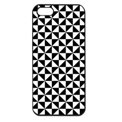 Triangle Pattern Simple Triangular Apple Iphone 5 Seamless Case (black)