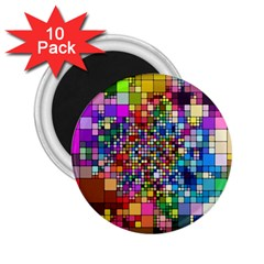Abstract Squares Arrangement 2 25  Magnets (10 Pack)