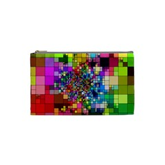 Abstract Squares Arrangement Cosmetic Bag (small)