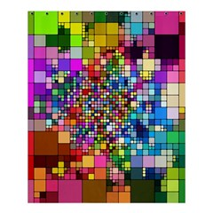 Abstract Squares Arrangement Shower Curtain 60  X 72  (medium)