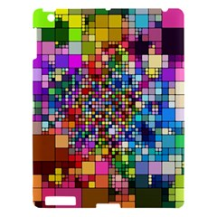 Abstract Squares Arrangement Apple Ipad 3/4 Hardshell Case