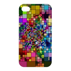 Abstract Squares Arrangement Apple Iphone 4/4s Premium Hardshell Case