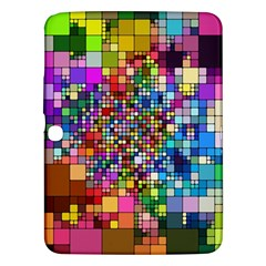 Abstract Squares Arrangement Samsung Galaxy Tab 3 (10 1 ) P5200 Hardshell Case