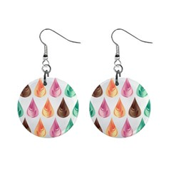 Background Colorful Abstract Mini Button Earrings