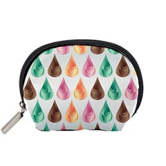 Background Colorful Abstract Accessory Pouches (small)  by Nexatart