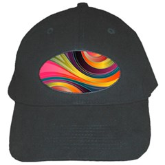 Abstract Colorful Background Wavy Black Cap by Nexatart