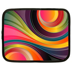 Abstract Colorful Background Wavy Netbook Case (xl)  by Nexatart