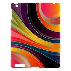Abstract Colorful Background Wavy Apple Ipad 3/4 Hardshell Case