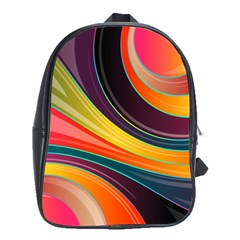 Abstract Colorful Background Wavy School Bag (xl) by Nexatart