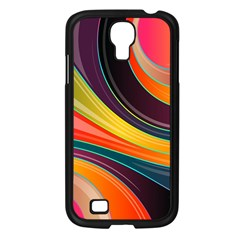 Abstract Colorful Background Wavy Samsung Galaxy S4 I9500/ I9505 Case (black)