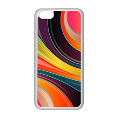 Abstract Colorful Background Wavy Apple Iphone 5c Seamless Case (white)